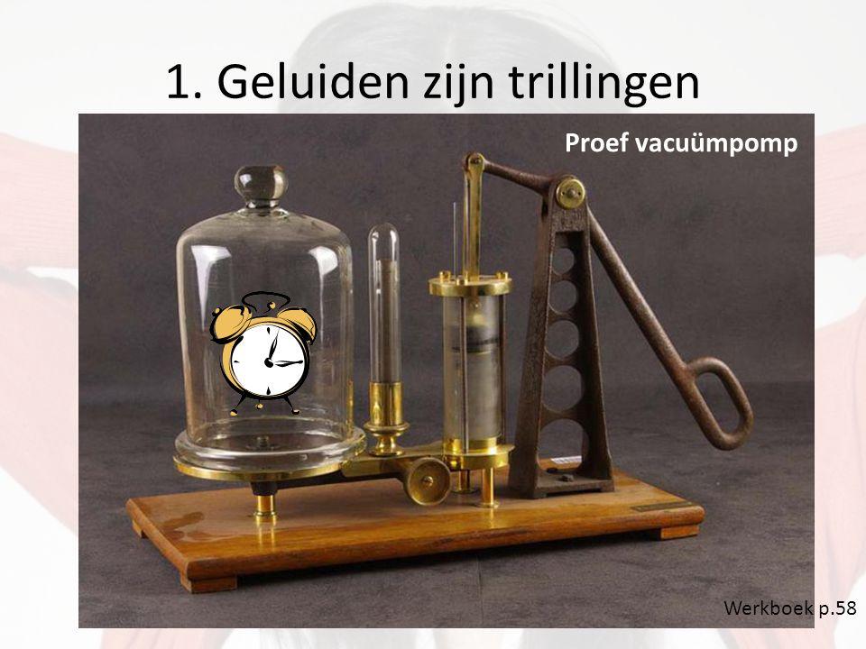 1. Geluiden zijn trillingen Proef vacuümpomp Werkboek p.58