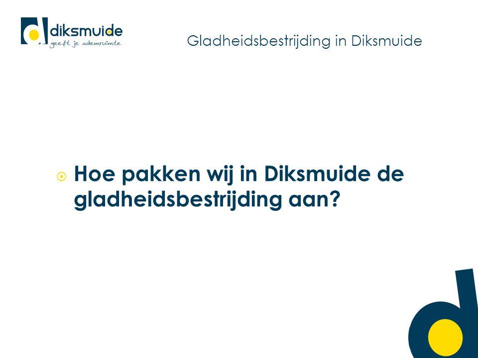 Gladheidsbestrijding in Diksmuide  Hoe pakken wij in Diksmuide de gladheidsbestrijding aan?