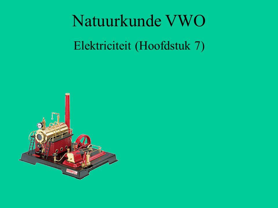 Natuurkunde VWO Elektriciteit (Hoofdstuk 7)