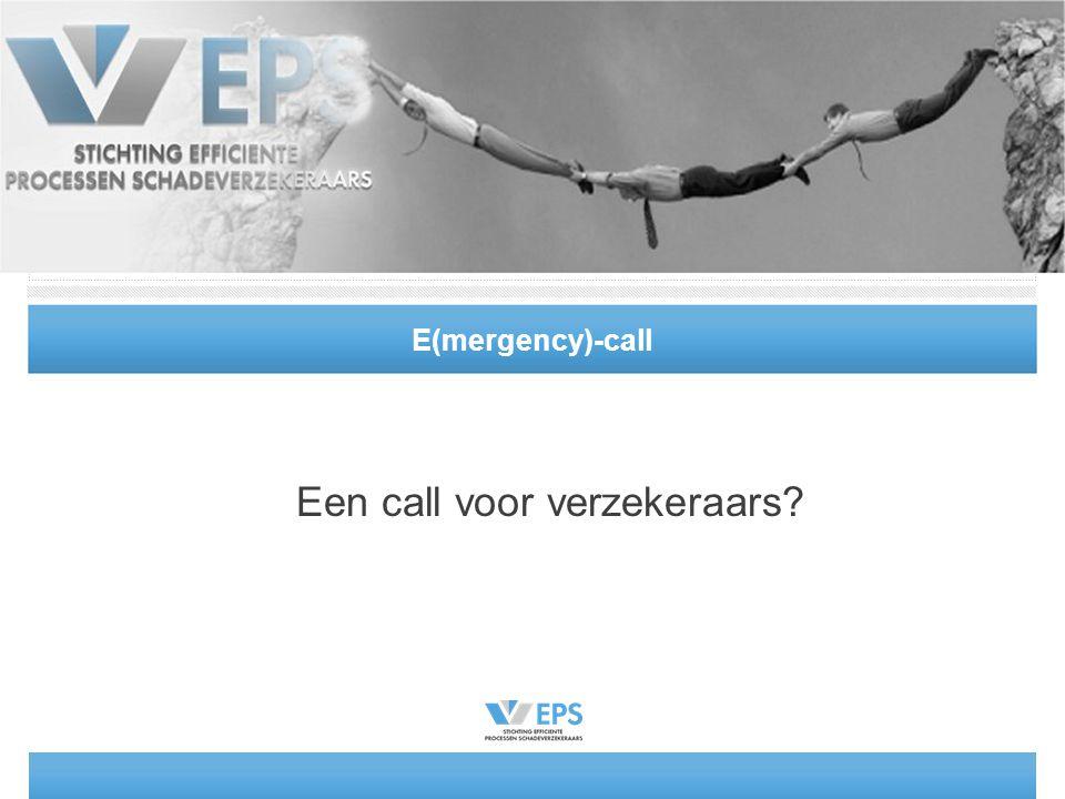 E(mergency)-call Een call voor verzekeraars