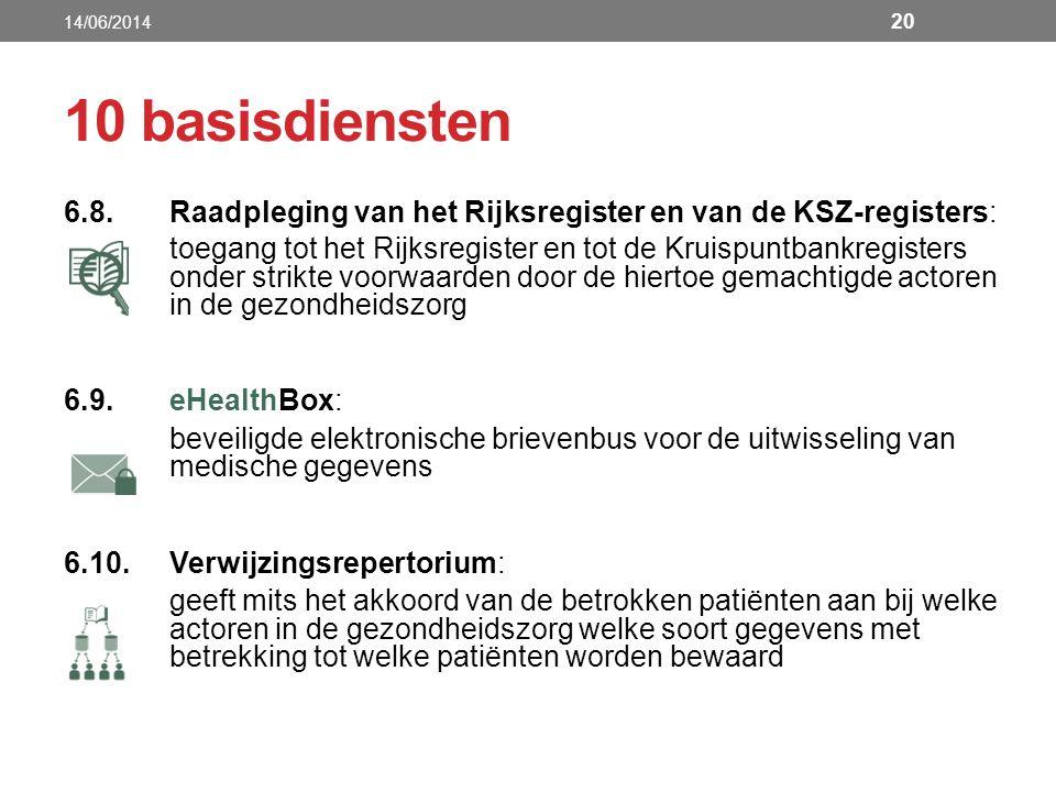 6.8.Raadpleging van het Rijksregister en van de KSZ-registers: toegang tot het Rijksregister en tot de Kruispuntbankregisters onder strikte voorwaarde