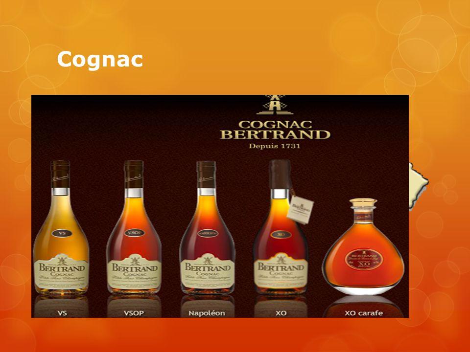 Cognac  Wijn distillaat  Witte wijn  Gerijpt op vaten  Imago  Verschillende categorieën