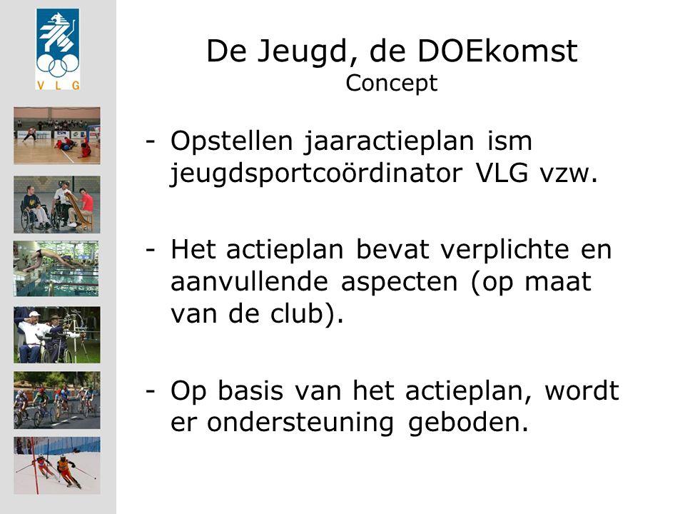 De Jeugd, de DOEkomst Concept -Opstellen jaaractieplan ism jeugdsportcoördinator VLG vzw.