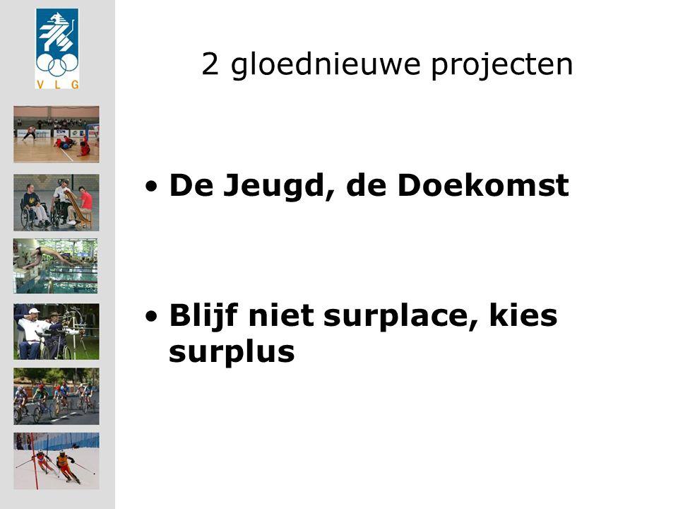 2 gloednieuwe projecten De Jeugd, de Doekomst Blijf niet surplace, kies surplus