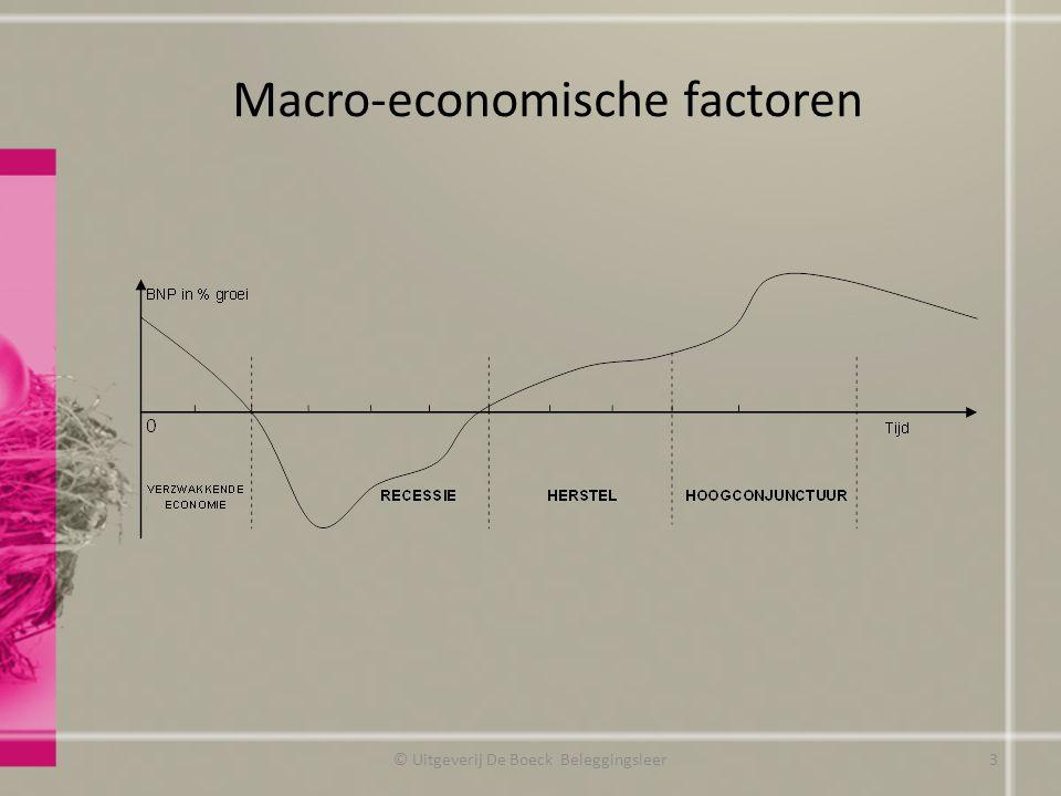 Macro-economische factoren © Uitgeverij De Boeck Beleggingsleer3