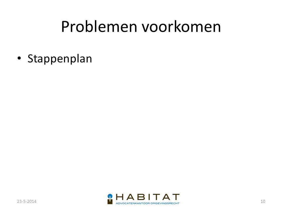 Problemen voorkomen Stappenplan 23-5-201410