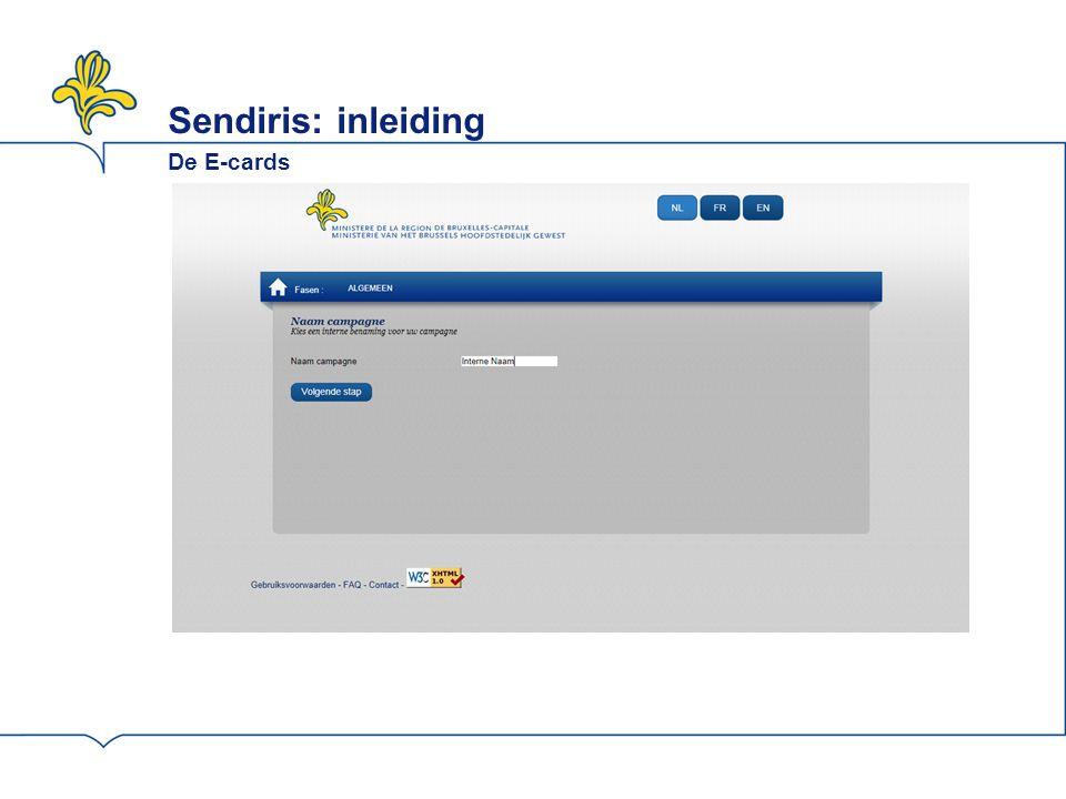 Sendiris: inleiding De E-cards