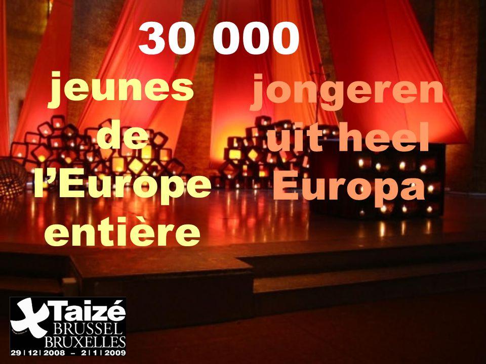 jeunes de l'Europe entière 30 000 jongeren uit heel Europa