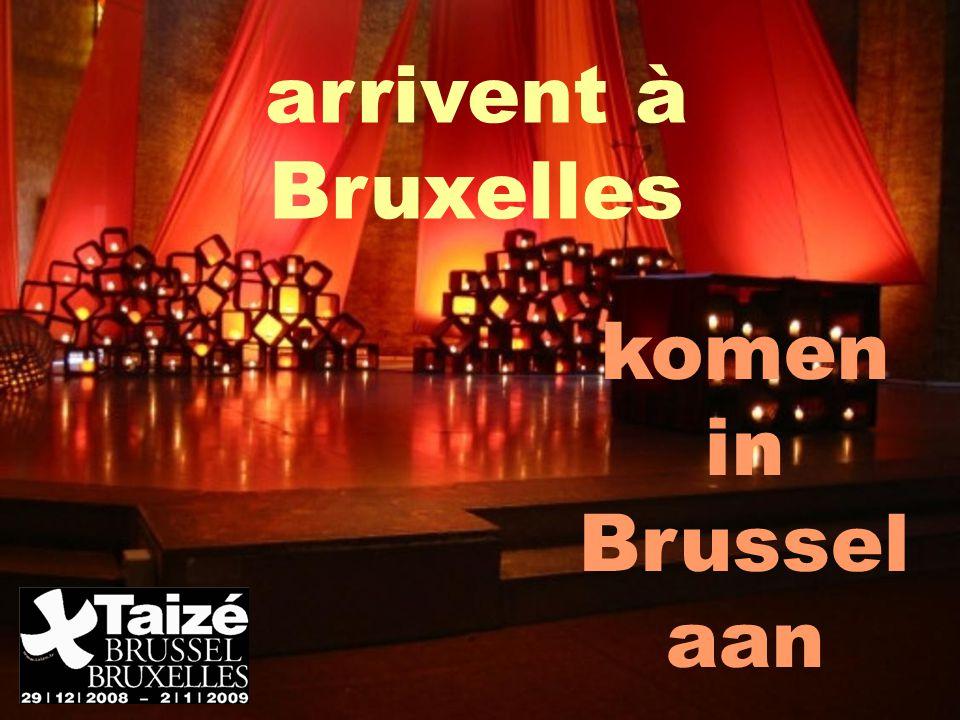 arrivent à Bruxelles komen in Brussel aan