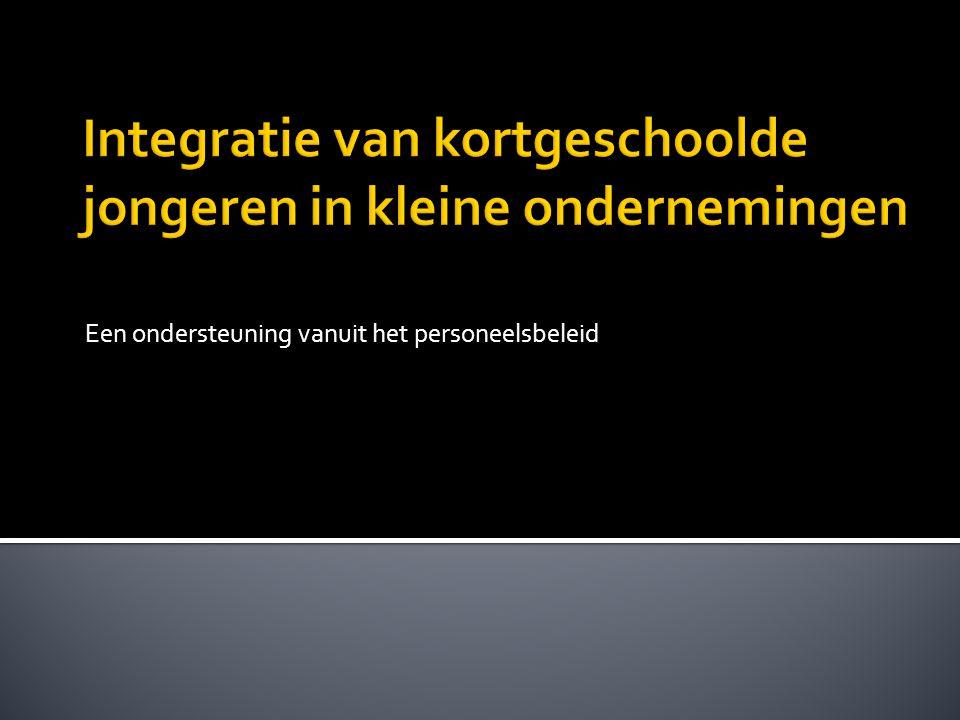  Student: Maatschappelijk Advisering  Stagecontext: UNIZO Jobkannaal  W.I.P.