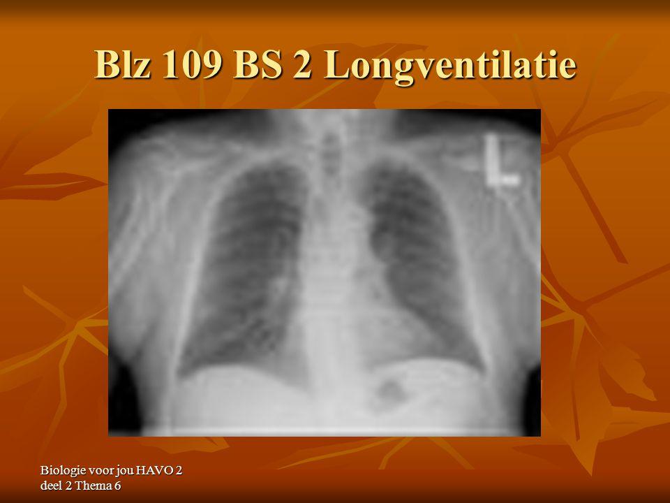 Biologie voor jou HAVO 2 deel 2 Thema 6 Blz 109 BS 2 Longventilatie