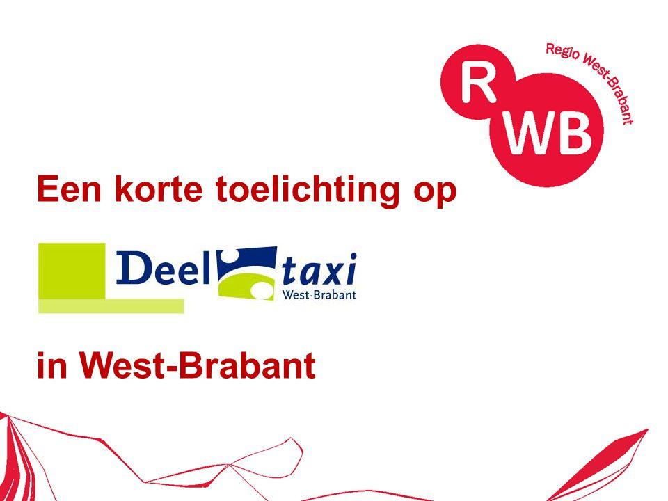 Kenmerken Wmo-vervoer van de 18 gemeenten OV-deeltaxivervoer van de provincie NB deur-tot-deur (of OV-knooppunt) marges in ophaal- en omrijtijd (taxi delen) klanttarieven: Wmo, begeleiders, vrije reizigers (Breda), Tarief Kleine Kernen, doorreistarief