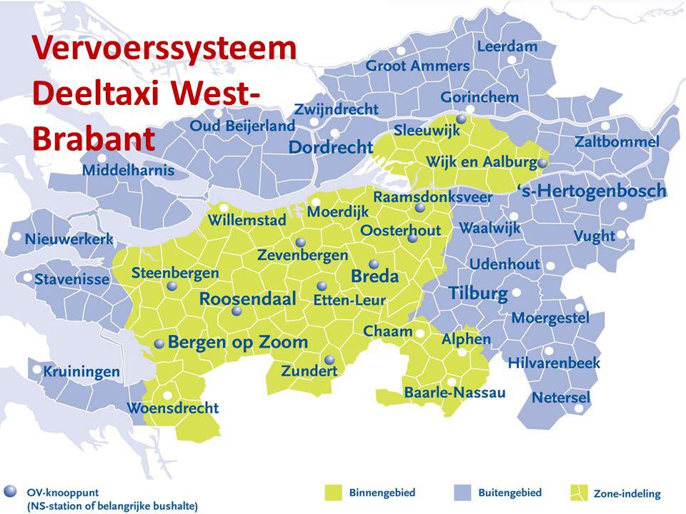 19-8-2014Regio West-Brabant6 Vervoerssysteem Deeltaxi West- Brabant