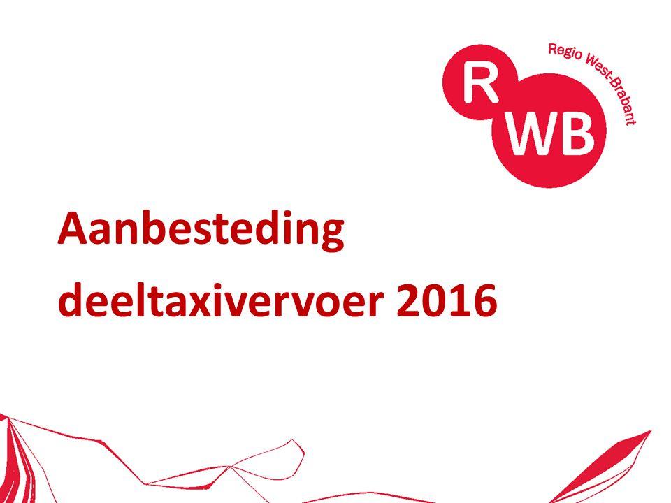 Aanbesteding deeltaxivervoer 2016