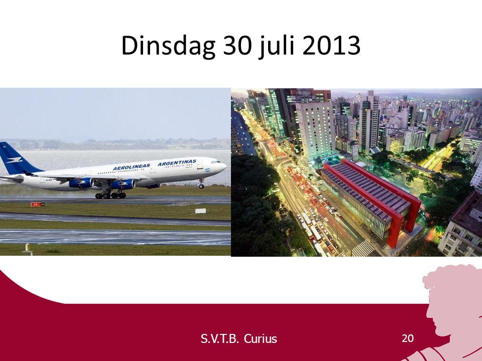 S.V.T.B. Curius 20 Dinsdag 30 juli 2013