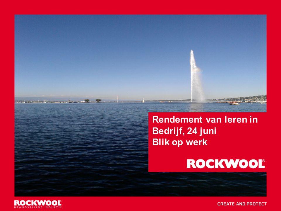 1 Blik op werk 24 juni 2014 Utrecht Rendement van leren in Bedrijf, 24 juni Blik op werk