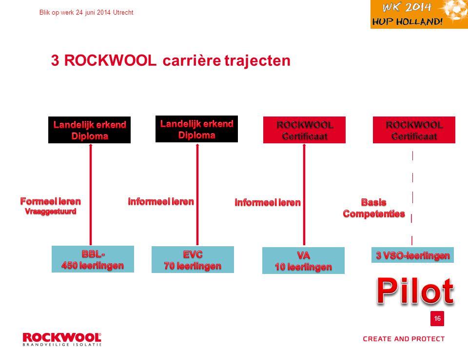16 Blik op werk 24 juni 2014 Utrecht 3 ROCKWOOL carrière trajecten