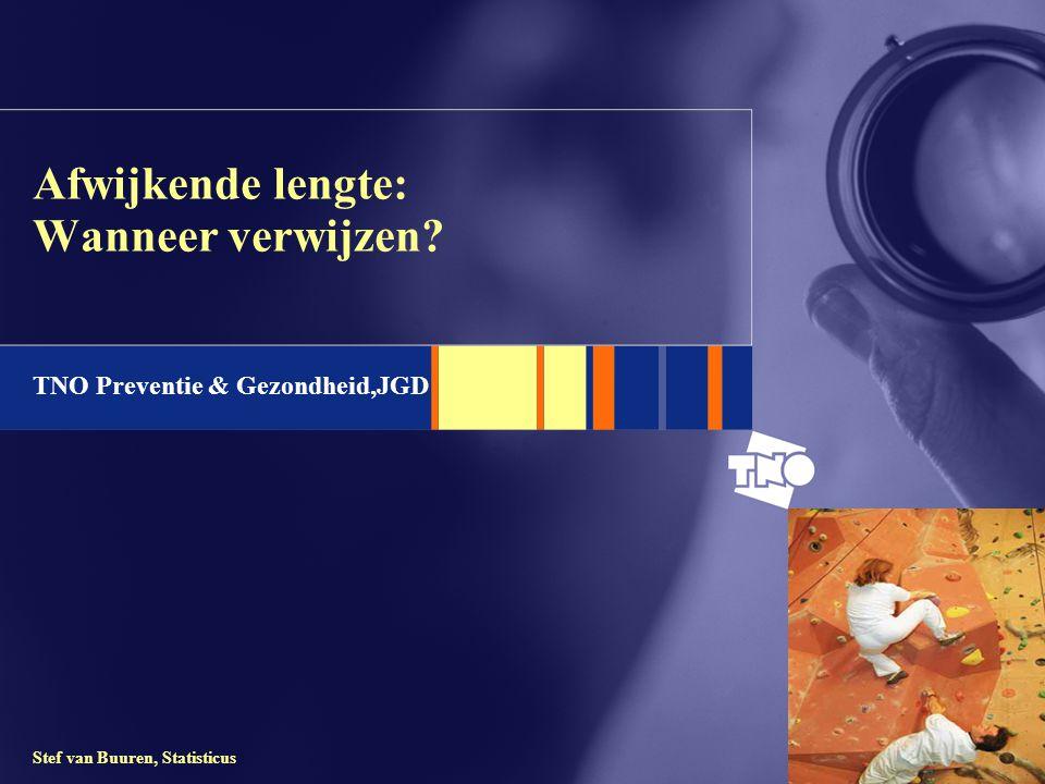 TNO Preventie & Gezondheid,JGD Stef van Buuren, Statisticus Afwijkende lengte: Wanneer verwijzen?