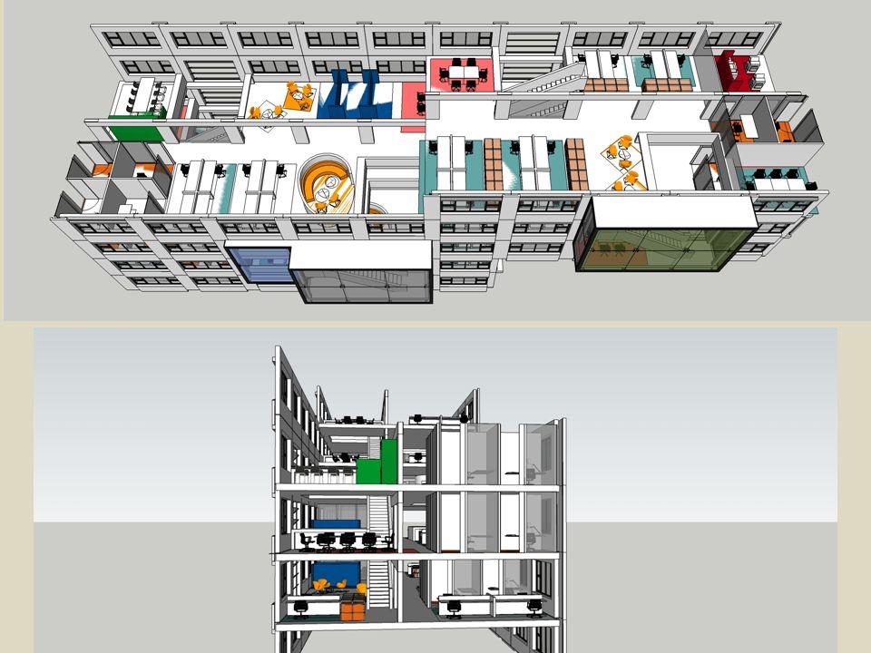 verbinding L-laagbouw en L-hoogbouw impressie, BG grote hal foto bestaand