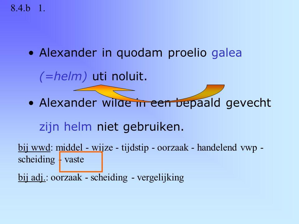In campum aridum atque arboribus nudum pervenit. Hij kwam aan in een dorre en boomloze vlakte.