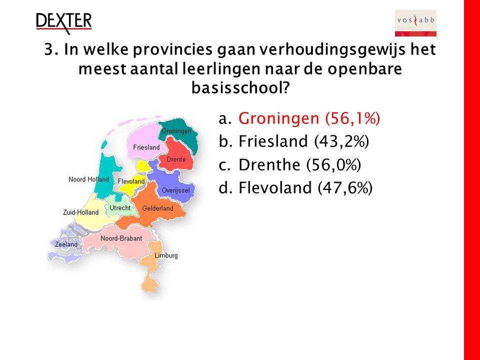 4.Hoeveel procent van de Nederlandse bevolking is Islamitisch (peiljaar 2004).