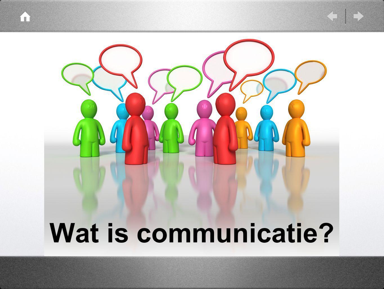 Wat is communicatie?