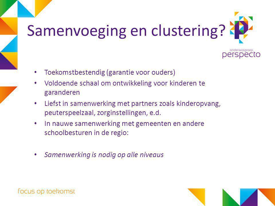 Toekomstbestendig (garantie voor ouders) Voldoende schaal om ontwikkeling voor kinderen te garanderen Liefst in samenwerking met partners zoals kinder