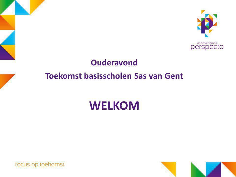 Ouderavond Toekomst basisscholen Sas van Gent WELKOM