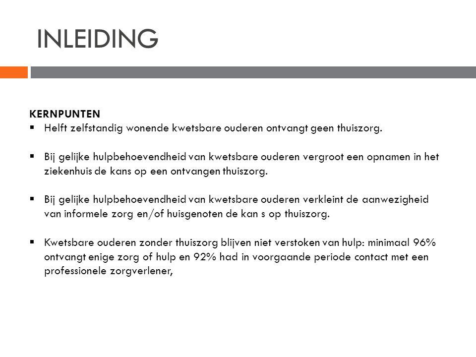INLEIDING  Sociaal en Cultureel Planbureau Den Haag  Onderzoek: 1.