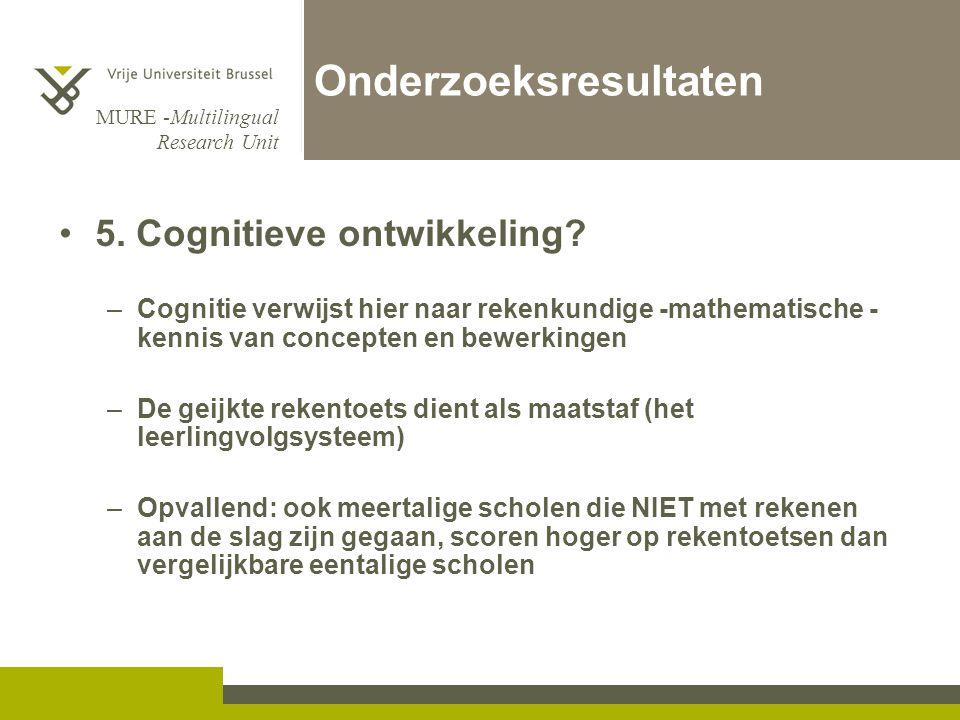 MURE -Multilingual Research Unit Onderzoeksresultaten 5.