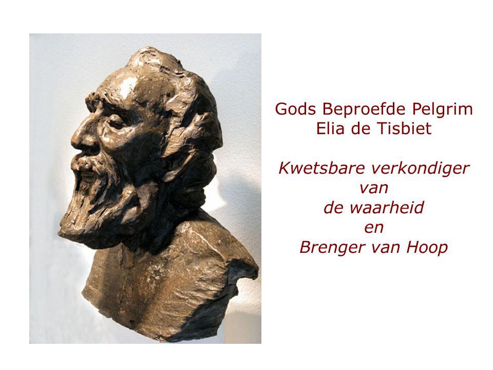 Gods Beproefde Pelgrim Elia de Tisbiet Kwetsbare verkondiger van de waarheid en Brenger van Hoop
