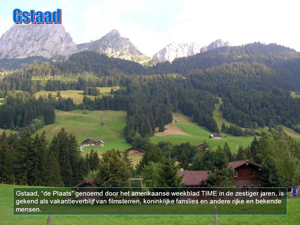 Is ook een van de grootste skizones van de Alpen. Gstaad ligt in het Berner Oberland.