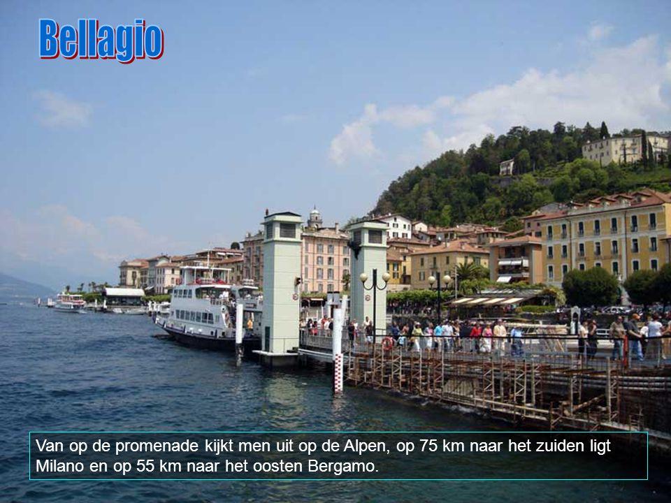 In het uiterste westen van het meer ligt Como, aan de andere kant, in het oosten ligt Lecco, terwijl Bellagio in het noorden van het meer te vinden is