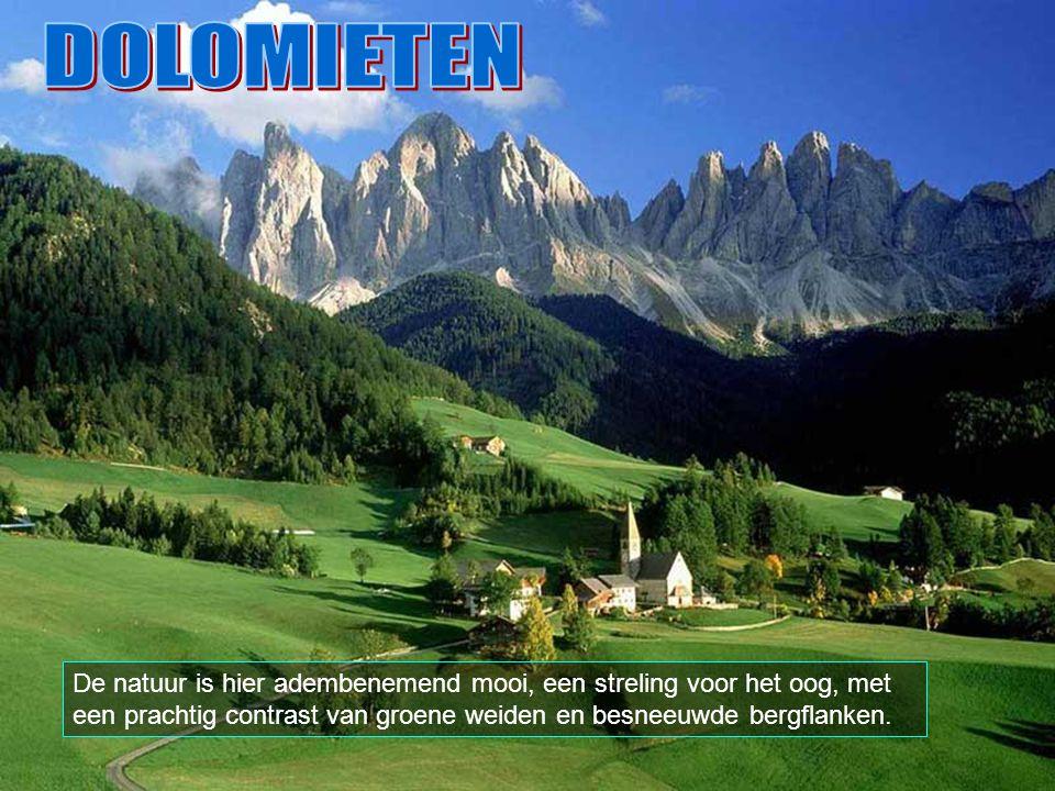 De Dolomieten strekken zich uit tussen de plaatsen Cortina D'Ampezzo en Belluno, Bolzano, Trento, Údine en Pordenone.