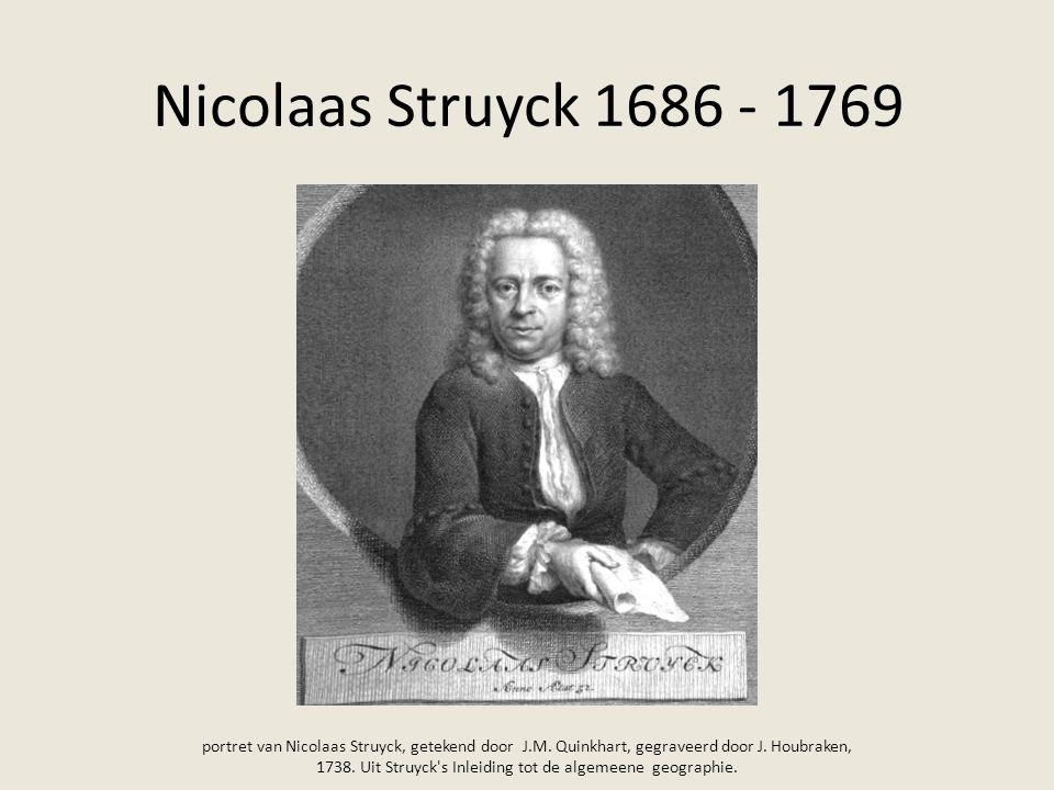 Nicolaas Struyck 1686 - 1769 portret van Nicolaas Struyck, getekend door J.M. Quinkhart, gegraveerd door J. Houbraken, 1738. Uit Struyck's Inleiding t