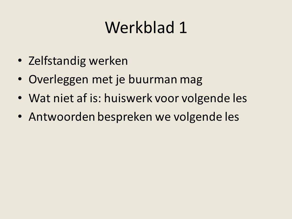 Les 2 Bespreken werkblad 1 Lijfrenteberekening De Witt Rampjaar 1672 Nicolaas Struyck Werkblad 2