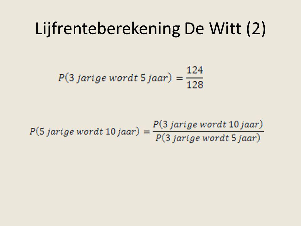 Lijfrenteberekening De Witt (2)
