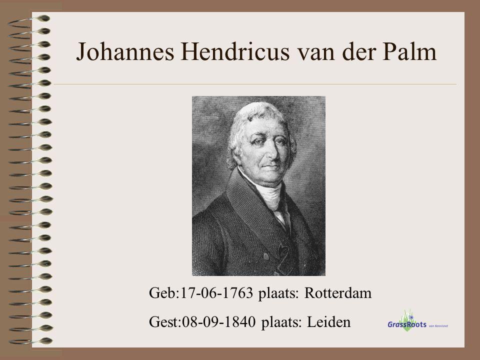Dominee Johannes van der Palm was niet alleen schrijver, maar ook predikant te Maartensdijk, vlak bij de stad Utrecht, van 1779 tot 1787.