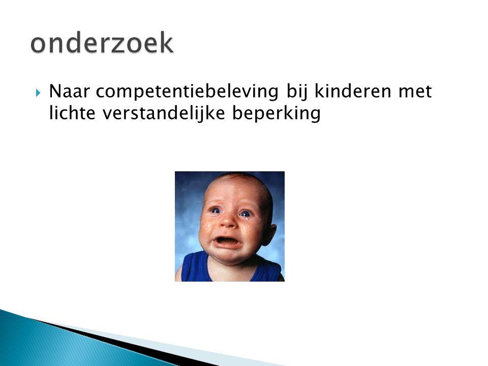  Naar competentiebeleving bij kinderen met lichte verstandelijke beperking