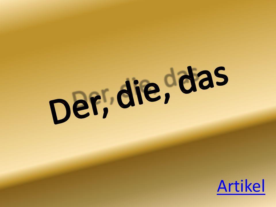 Lidwoorden - Artikel NL lidwoorden = de, het en een Duits Artikel = der, die und das Het lidwoord staat altijd voor een zelfstandignaamwoord: de vader – der Vater Der woorden (m) = mannelijk Die woorden (v) = vrouwelijk Das woorden (o) = onzijdig Meervoud gebruik je die in het Duits (das Kind – die Kinder)