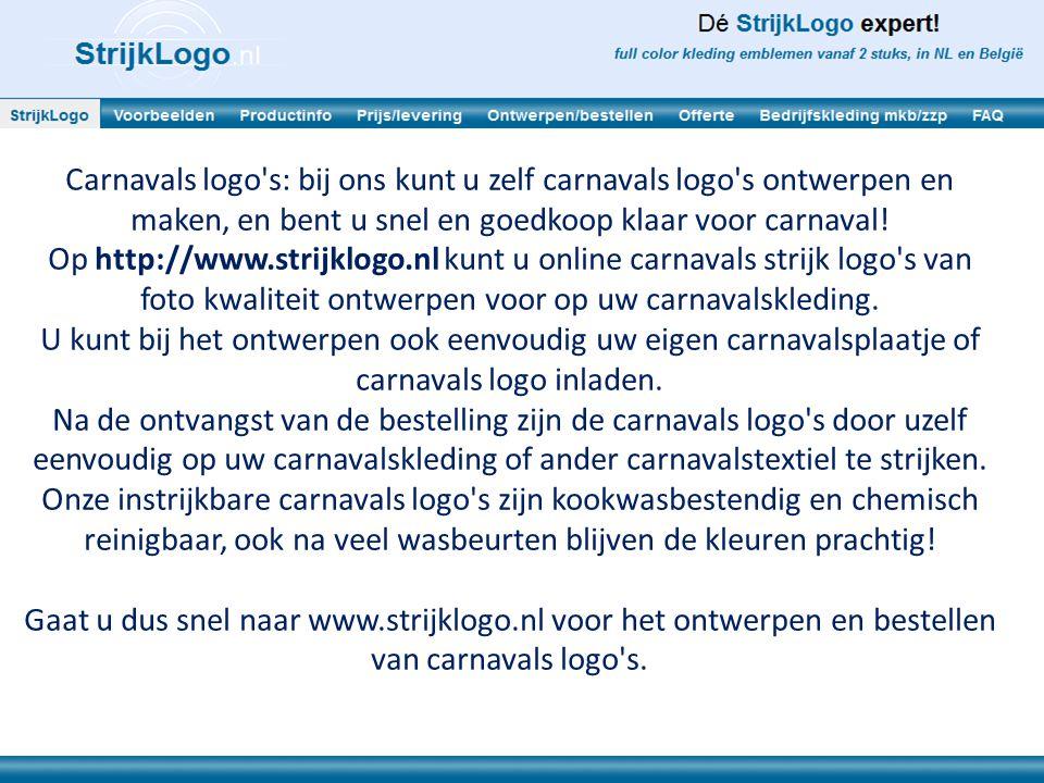 Carnavals logo s: bij ons kunt u zelf carnavals logo s ontwerpen en maken, en bent u snel en goedkoop klaar voor carnaval.