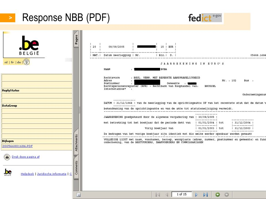 7 © fedict 2007. All rights reserved Response NBB (PDF)