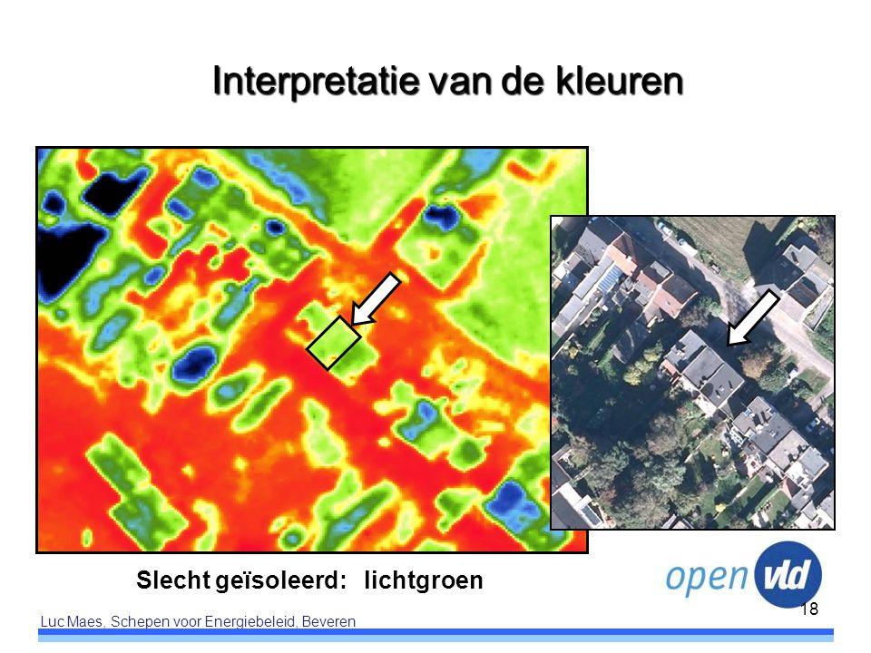 Luc Maes, Schepen voor Energiebeleid, Beveren 18 Slecht geïsoleerd: lichtgroen Interpretatie van de kleuren