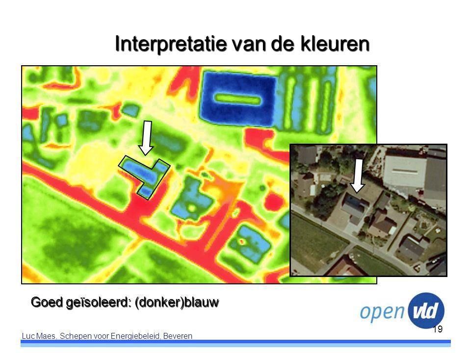 Luc Maes, Schepen voor Energiebeleid, Beveren 19 Goed geïsoleerd: (donker)blauw Interpretatie van de kleuren