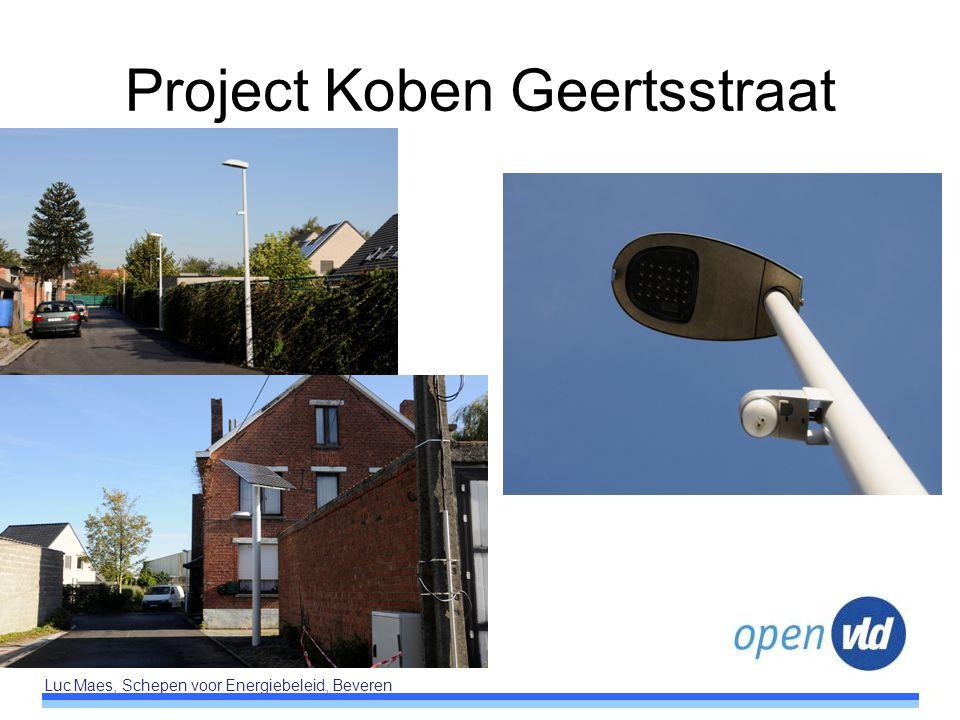 Luc Maes, Schepen voor Energiebeleid, Beveren Project Koben Geertsstraat