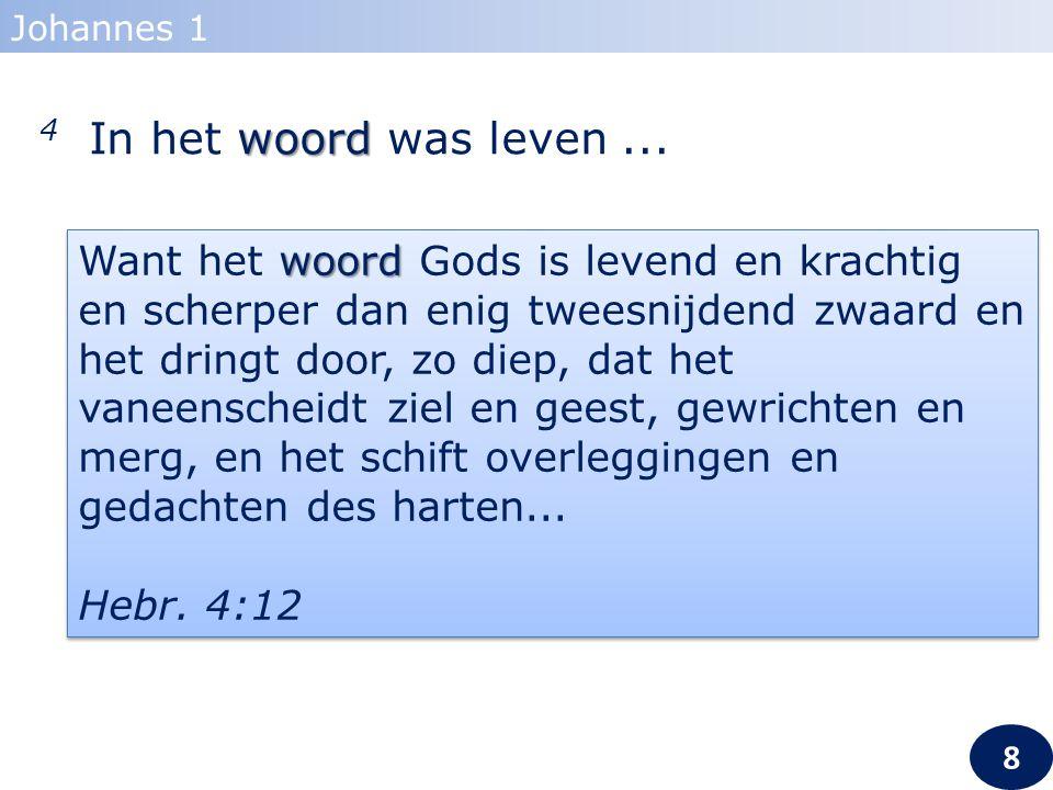 4... en het leven was het licht der mensen... Johannes 1 9 9