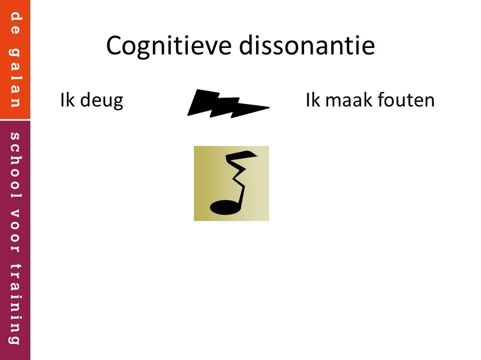 Cognitieve dissonantie Ik deug Ik maak fouten