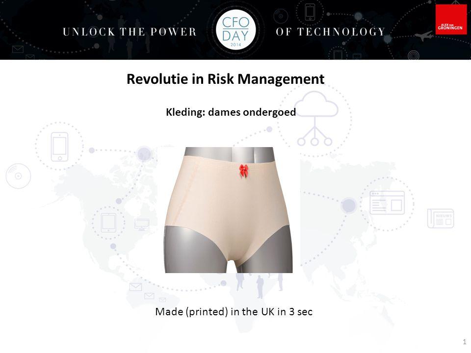 Video clip Lisa Harouni 3D printen van materialen Ultimaker: Nederlandse 3D plastic printer; kost tussen de Euro 995,- en 1895,- Revolutie in Risk Management