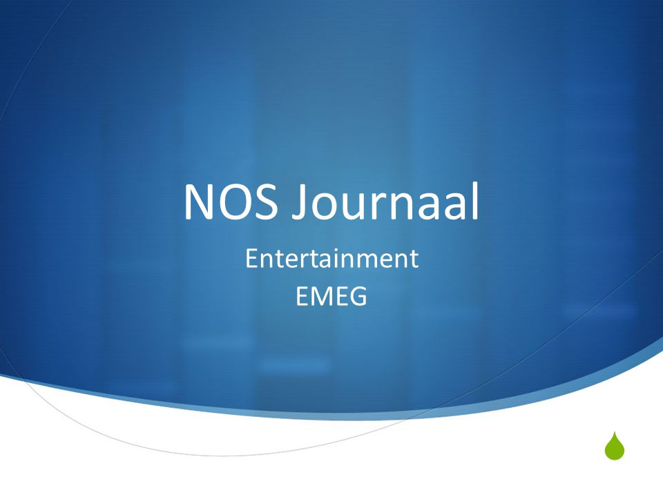  NOS Journaal Entertainment EMEG