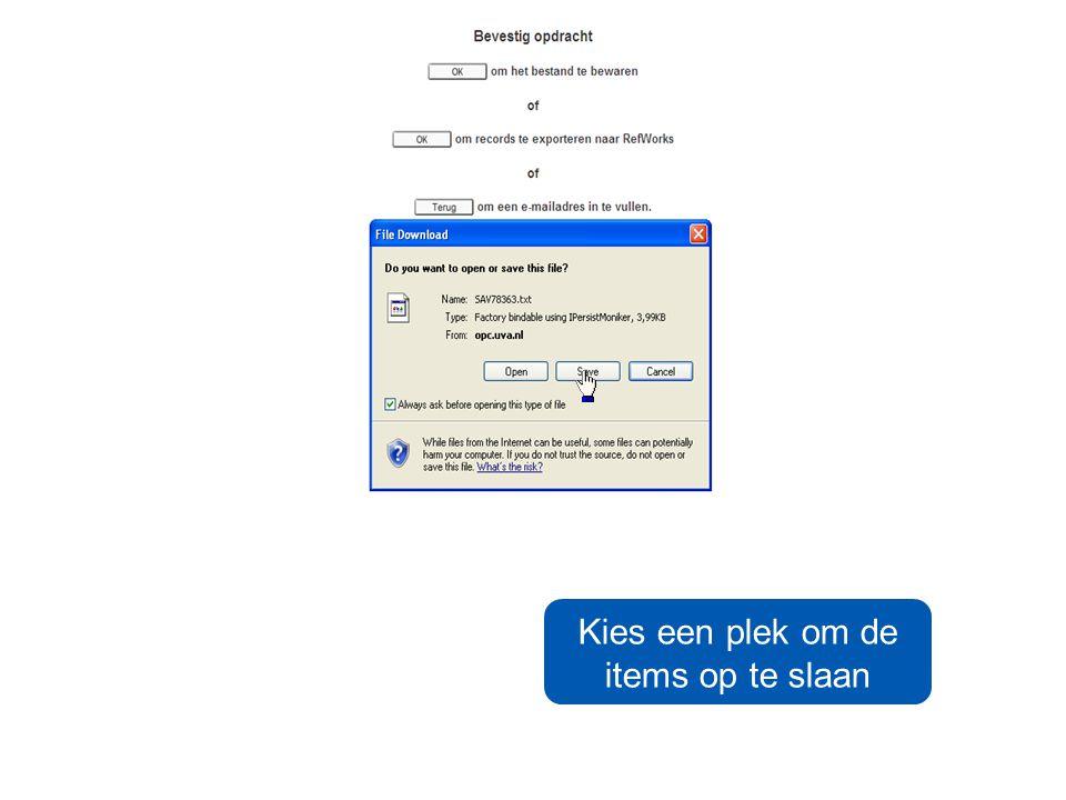 U kunt items ook e- mailen student@student.uva.nl